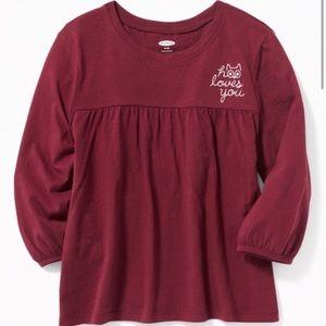 Old Navy Boho A Line Long Sleeve Shirt
